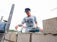 IVHQ volunteer on the Construction and Renovation project in Laos with IVHQ