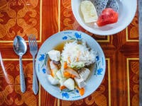 Laos volunteer dinner with IVHQ