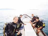 IVHQ Marine Conservation volunteers on a boat in Madagascar