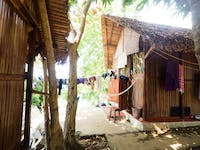 Outside typical IVHQ Madagascar huts