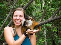 Volunteers explore Lemur park during an IVHQ weekend