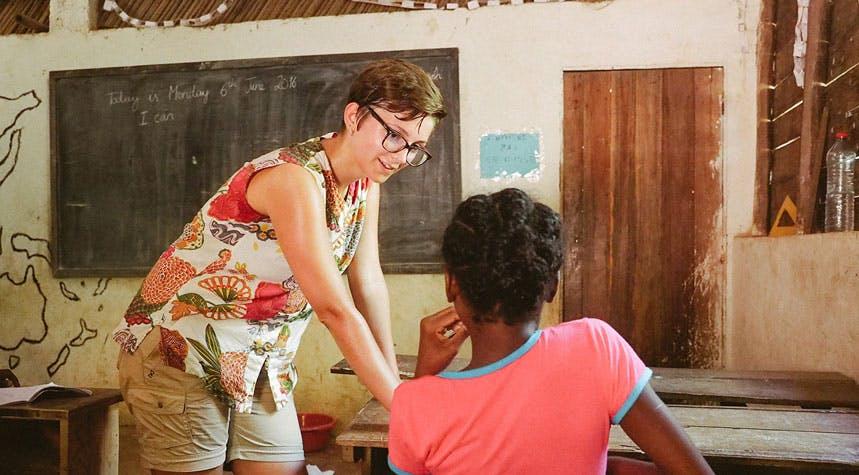 Teaching volunteer in Madagascar with IVHQ