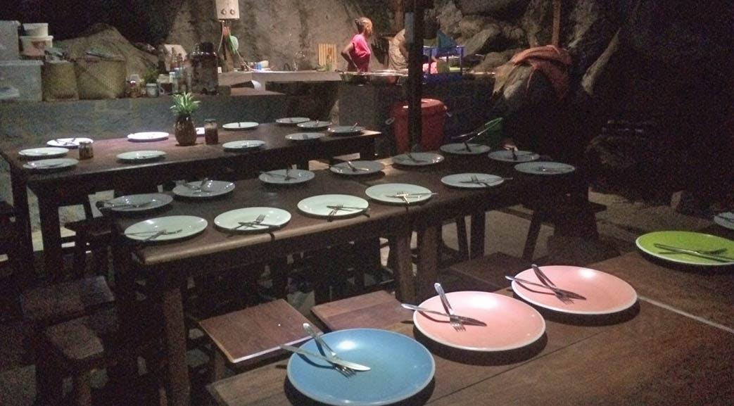 Volunteer dining room in Madagascar
