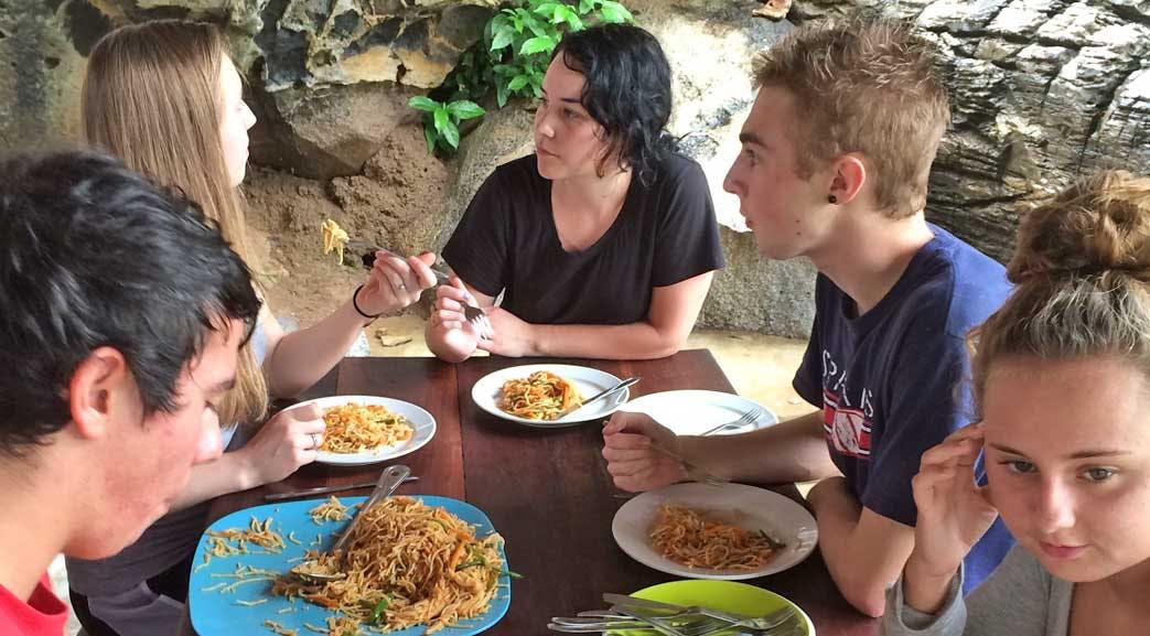 Volunteer meals in Madagascar