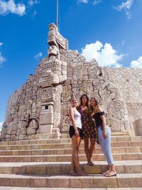 Volunteers exploring Merida with IVHQ in Mexico