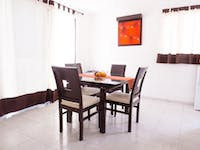 IVHQ volunteer homestay dining room in Mexico