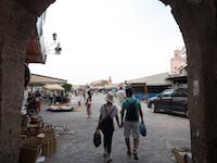 IVHQ volunteers exploring Marrakech markets with IVHQ