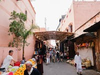 Exploring Marrakech markets with IVHQ