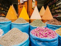 Explore Marrakech Spice Markets during a weekend with IVHQ
