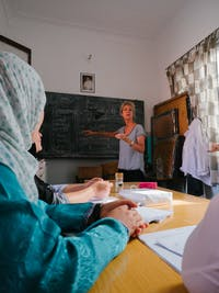 IVHQ Volunteer in Marrakech teaching English
