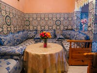 Marrakech volunteer dining room with IVHQ