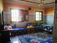 Marrakech volunteer living room with IVHQ