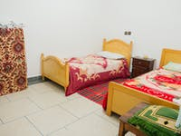 Volunteer bedroom in Morocco with IVHQ