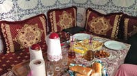 Breakfast at a homestay in Morocco