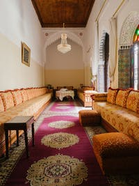 IVHQ volunteer living room in Morocco