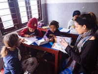 IVHQ childcare volunteer in Nepal