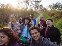 Volunteers on Safari in Chitwan during an IVHQ weekend