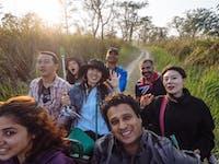 Volunteers on Safari in Chitwan during an IVHQ weekend