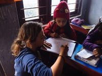 IVHQ afterschool support volunteer in Nepal on the Childcare project