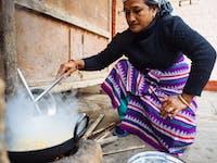 Chitwan Nepal host cooking