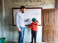 IVHQ volunteer teaching English in Nepal with IVHQ