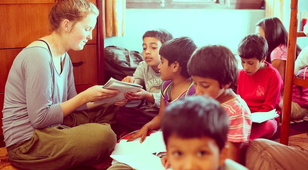 Volunteering on the Childcare project in Nepal