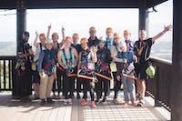 Group of IVHQ volunteers exploring New Zealand during an IVHQ weekend