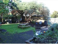 IVHQ New Zealand volunteer accommodation outdoor area