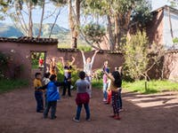 IVHQ volunteer on childcare project in Cusco
