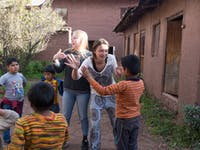 Volunteers on the childcare project in Cusco with IVHQ