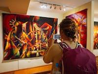 Exploring an art gallery in Cusco, Peru with IVHQ
