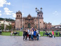 Group of IVHQ volunteers in Cusco, Peru with IVHQ