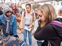 Exploring Cusco markets in Peru with IVHQ