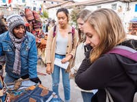 Exploring Cusco markets in Peru with IVHQ
