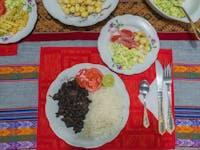 IVHQ volunteer dinner in Cusco, Peru