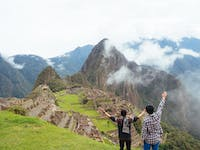 IVHQ volunteers at Machu Picchu in Cusco, Peru with IVHQ