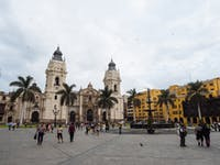Exploring central Lima in Peru with IVHQ