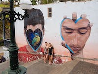 Exploring street art in Lima in Peru with IVHQ
