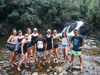 Group of IVHQ volunteers exploring the Philippines during an IVHQ weekend