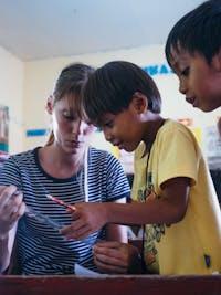 Kindergarten volunteer in the Philippines