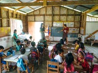 An IVHQ volunteer classroom in the Philippines