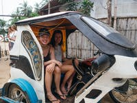 Volunteers traveling to their volunteer placement in the Philippines with IVHQ