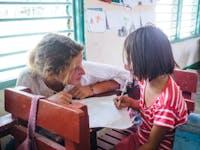 Kindergarten volunteering in the Philippines with IVHQ