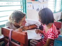 Kindergarten volunteering in the Philippines with IVHQ