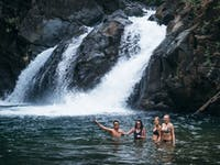 Exploring water falls during an IVHQ weekend in the Philippines