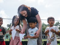 Kindergarten volunteering in the Philippines