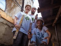 IVHQ volunteers on the Construction and Renovation project in Portugal