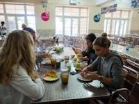 IVHQ Volunteers dining in Lisbon, Portugal