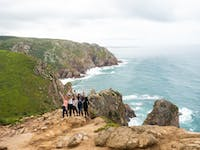 Group of IVHQ volunteers exploring Portugal coast during an IVHQ weekend