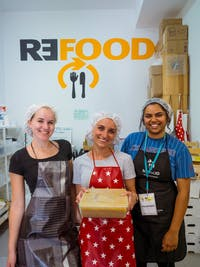 Volunteers on the Food Rescue project in Lisbon, Portugal with IVHQ